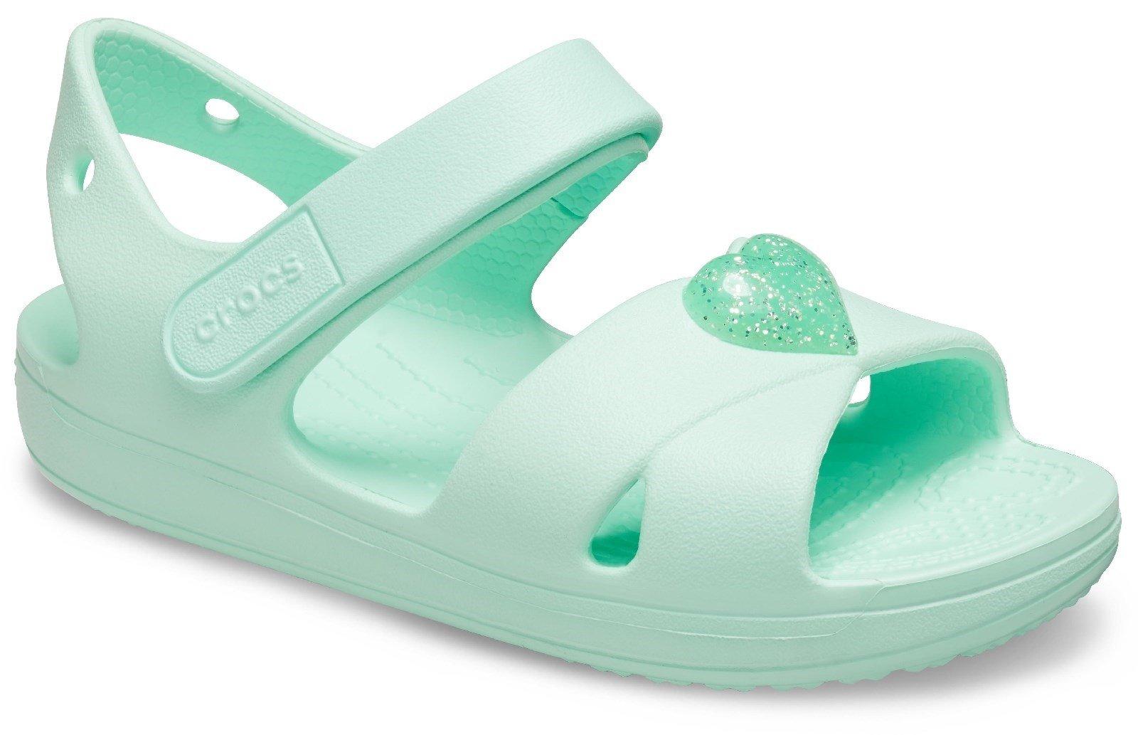 Crocs Kid's Cross Strap Sandal Mint Green 30710 - Mint Green 12 UK