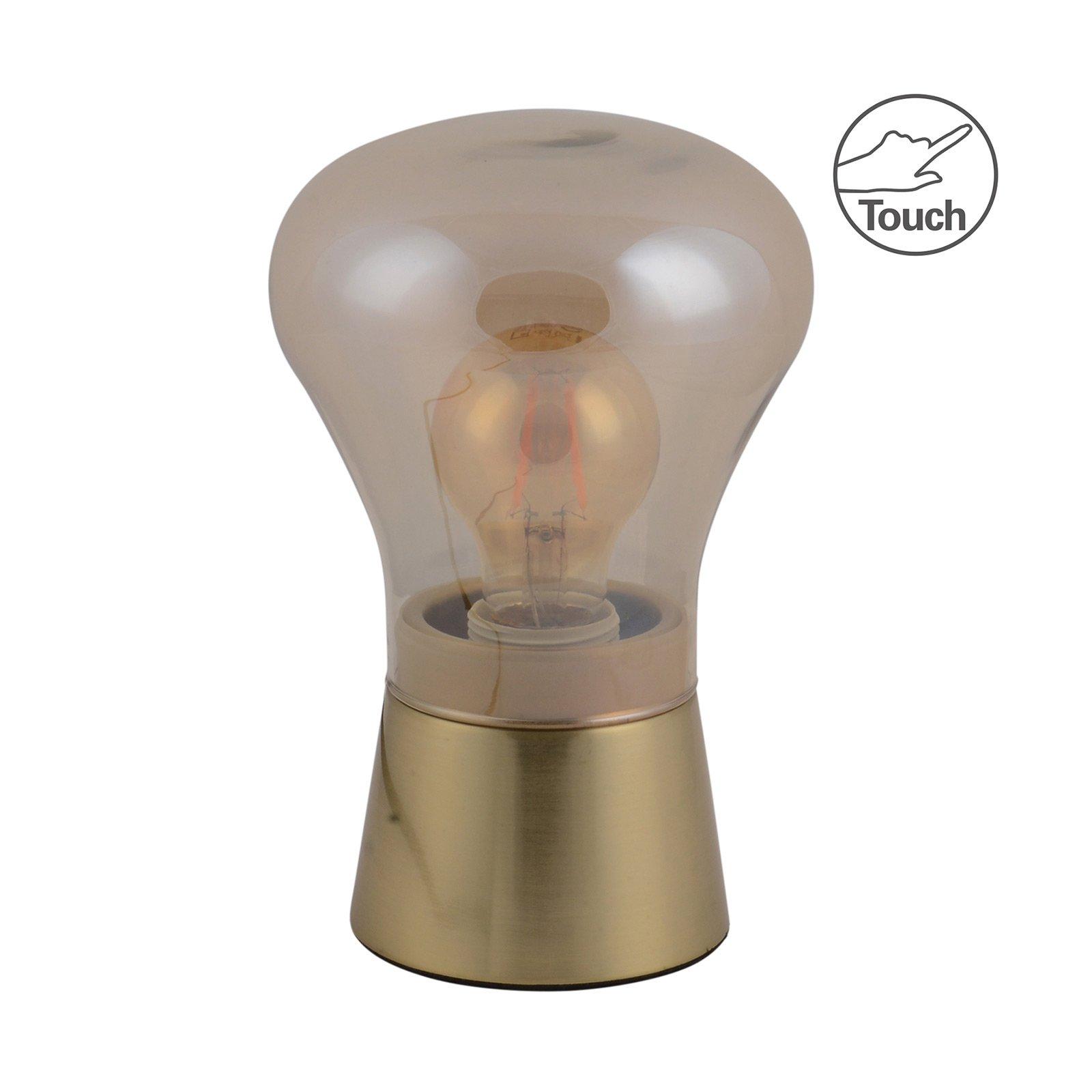 Derry bordlampe av glass, messing