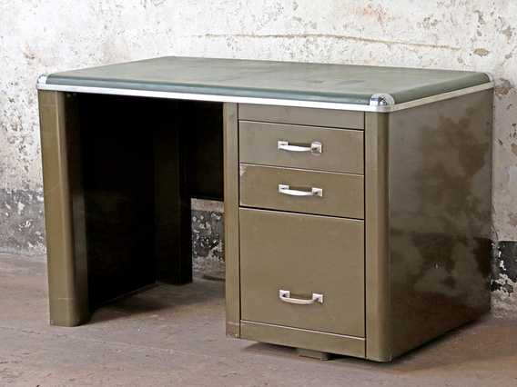 Mid-Century Metal Desk by Howden Green