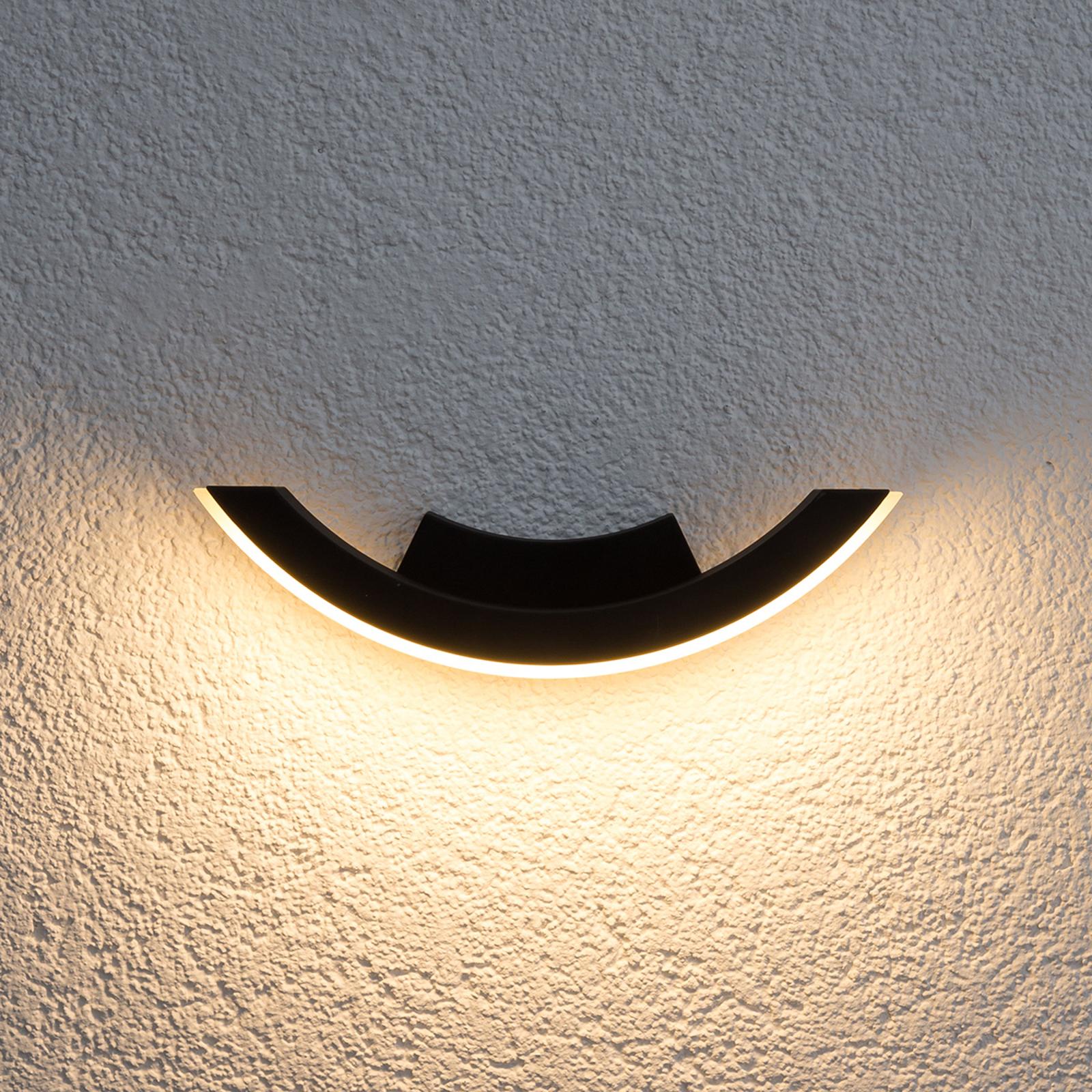 Grafiitin värinen Half-LED-ulkoseinävalaisin