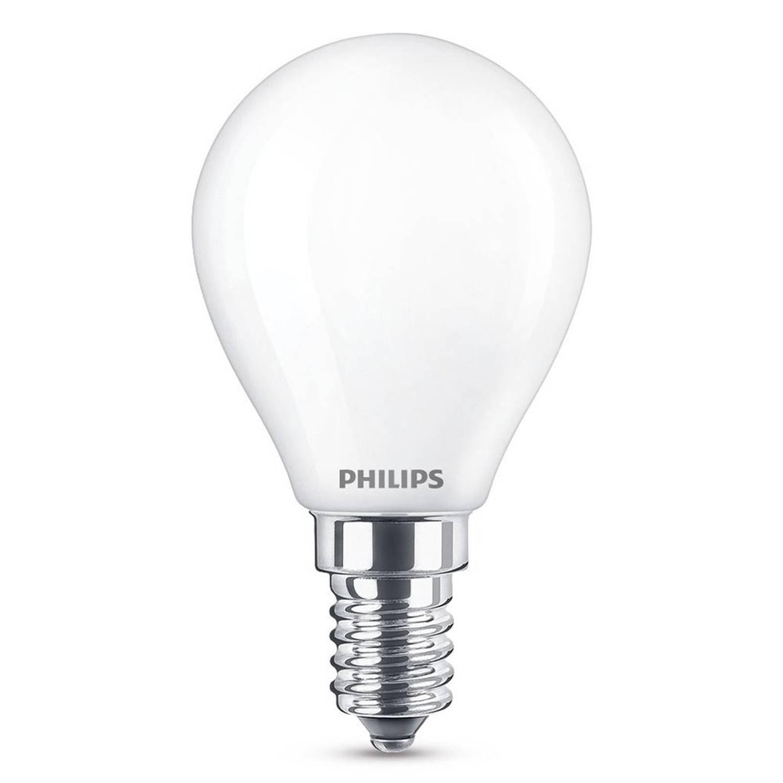 LED-dråpepære E14 2,2 W, varmhvit, 250 lumen