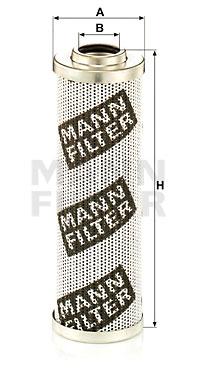 Suodatin, työhydrauliikka MANN-FILTER HD 6004 x