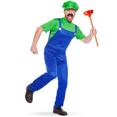 Luigi maskeraddräkt M-L