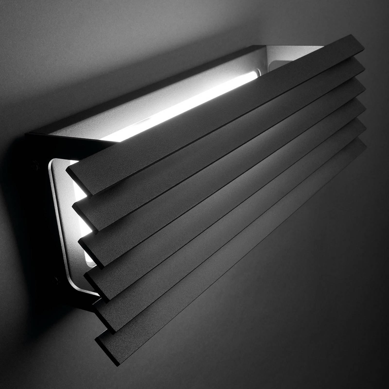 Bover Lineana H - utendørs LED-vegglampe lameller