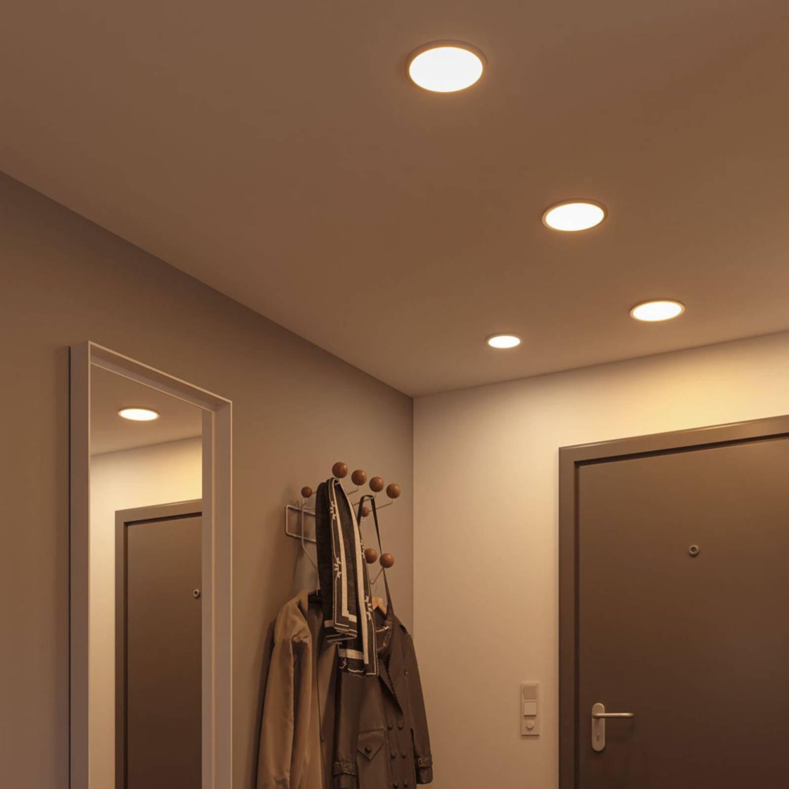 Paulmann LED-panel Areo 3 000 K rund krom 11,8 cm