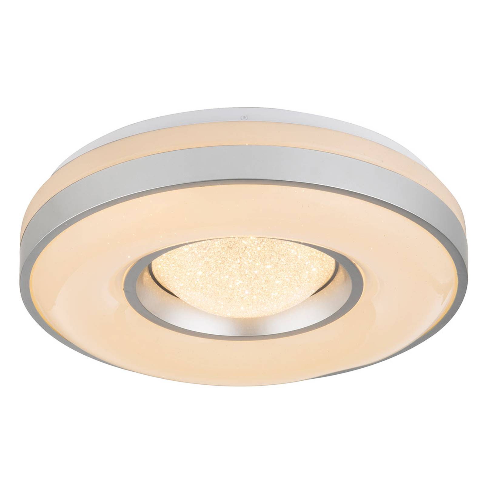 LED-kattovalaisin Colla, metallikehys, hopea