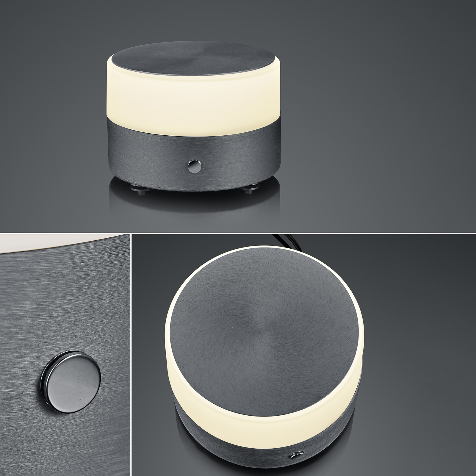 BANKAMP Button LED-pöytälamppu 11cm antrasiitti