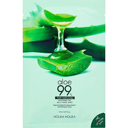 Aloe 99% Soothing Gel Jelly Mask Sheet, 23 ml Holika Holika Kasvonaamio
