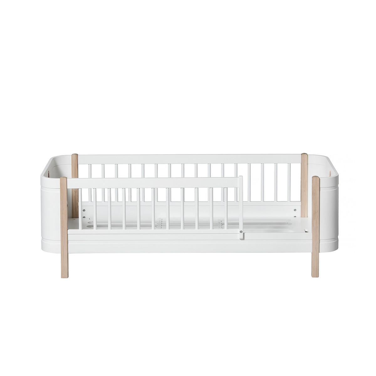 Juniorsäng Mini+ vit/ek, Oliver Furniture
