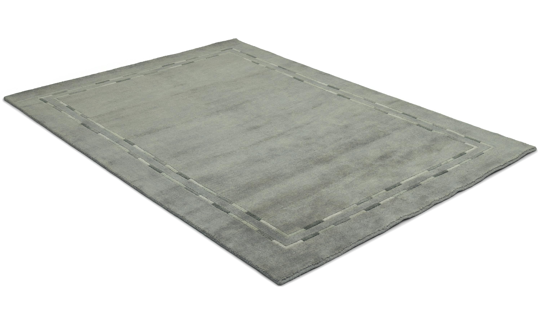 Lines mellomgrå - håndknyttet teppe
