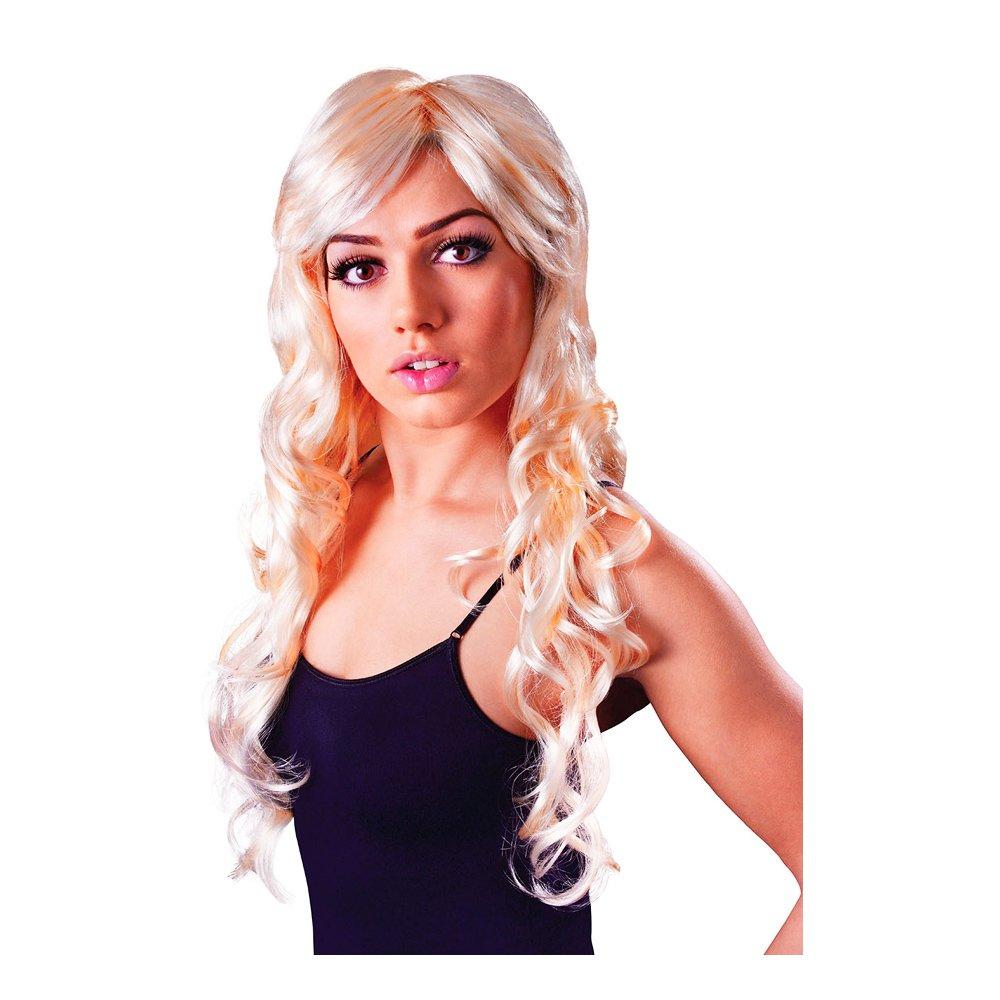 Lång Blond Peruk med Lockar - One size