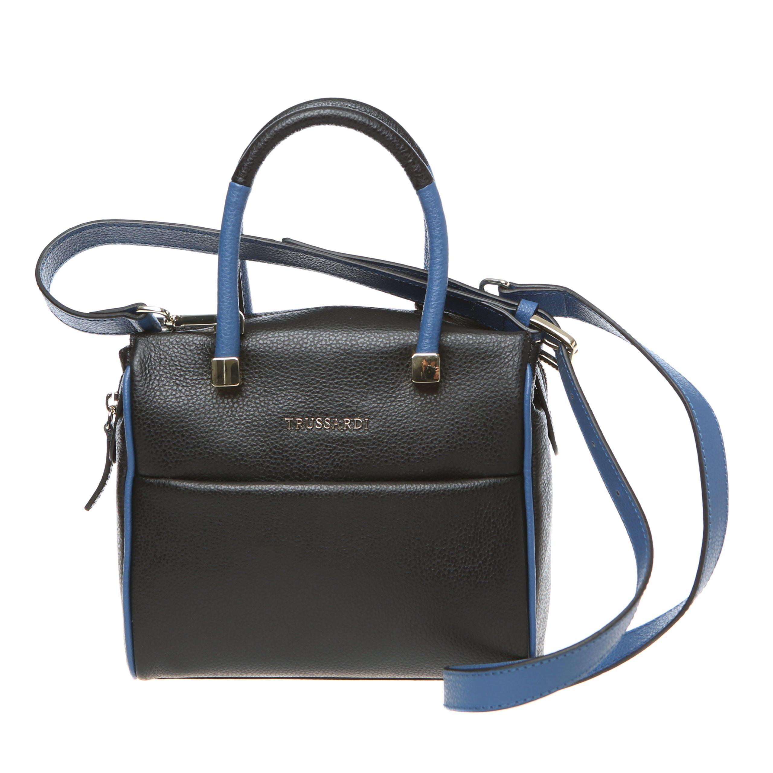 Trussardi Women's Handbag Black 76B265M_19Black-Blue