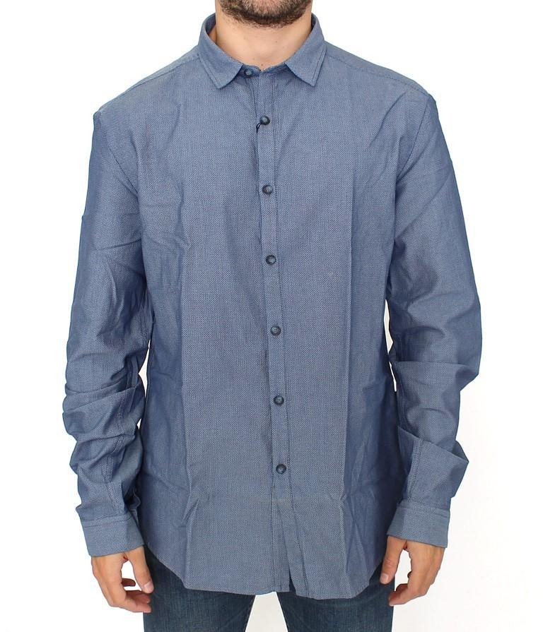 Costume National Men's cotton dress Shirt Blue SIG10288 - IT52 | XL