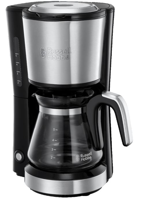 Russell Hobbs Compact Home Coffee Maker Kaffebryggare - Borstad Stål