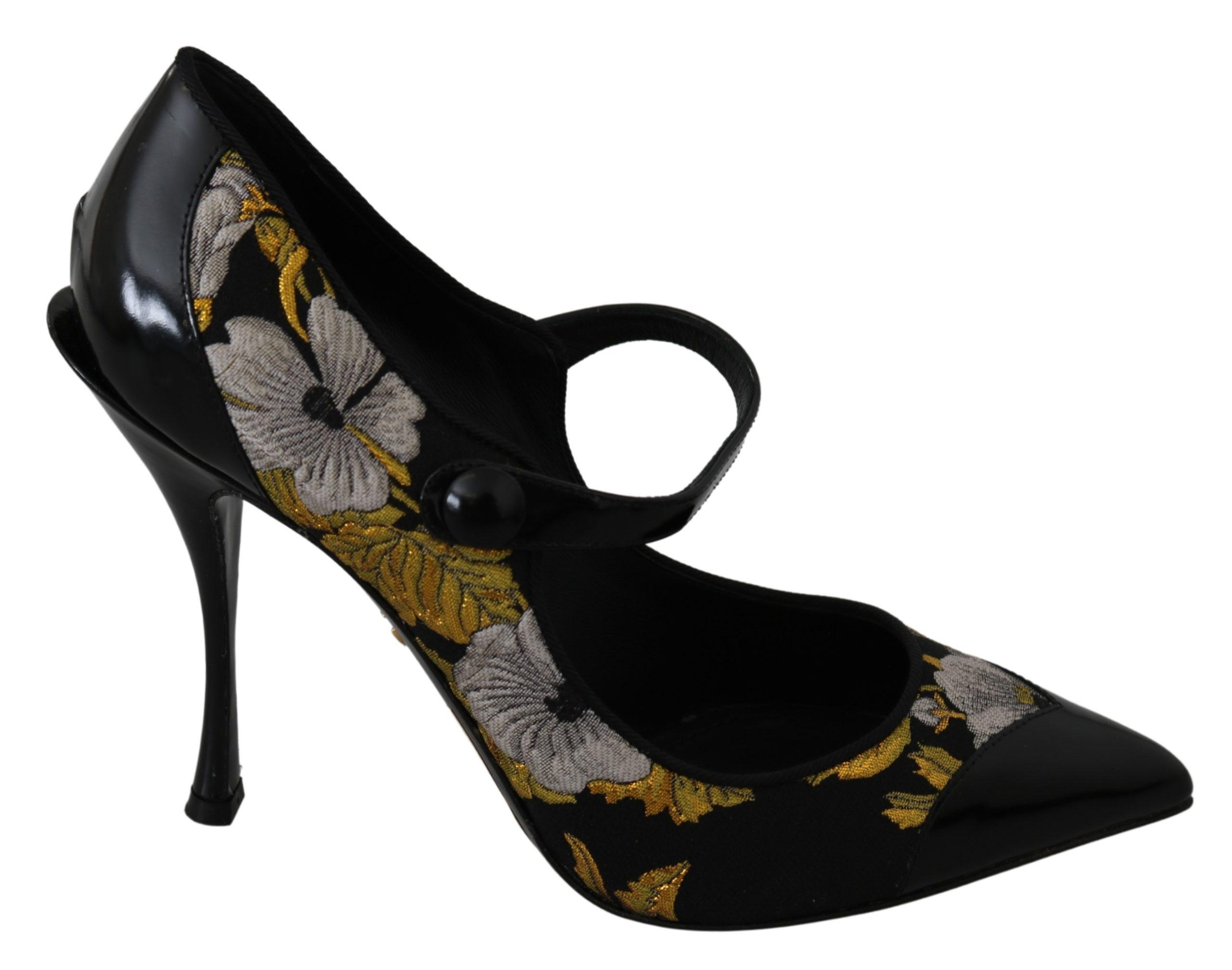Dolce & Gabbana Women's Mary Janes Leather Pumps Black LA7254 - EU39/US8.5