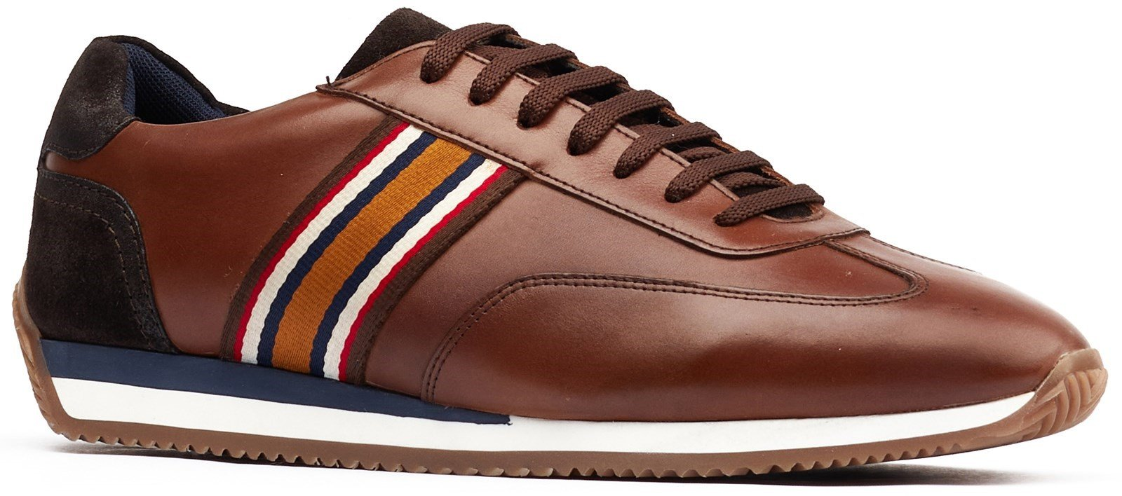 Base London Men's Mayo Lace Up Trainer Various Colours 32259 - Brown 7