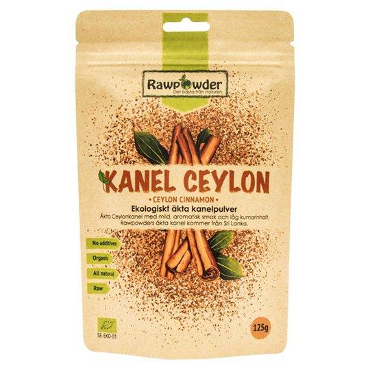 Rawpowder Ekologiskt Äkta Kanelpulver Ceylon, 125 g