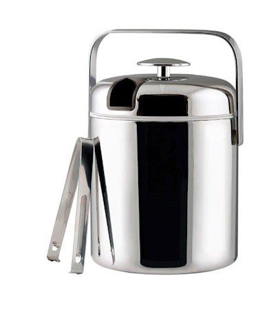 Isbøtte Krommet'thermo' med lokk og istang rommer 1,3 liter