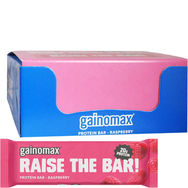 "Hel Låda Proteinbars ""Raspberry"" 15 x 60g - 60% rabatt"