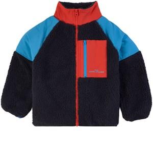 The Marc Jacobs Cheetah Sherpa Zip-tröja Marinblå 2 år