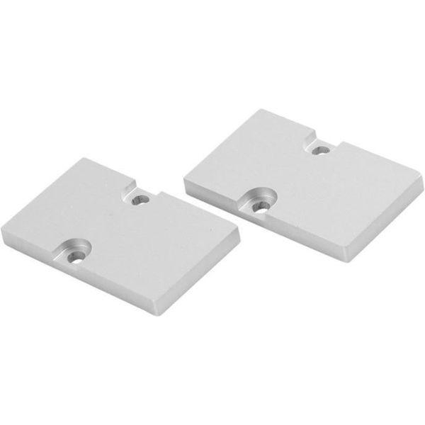 Hide-a-Lite Dual Gavl aluminium, 2-pakning
