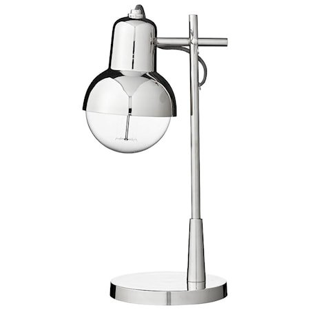 Bordlampe Carmela H41cm Sølv