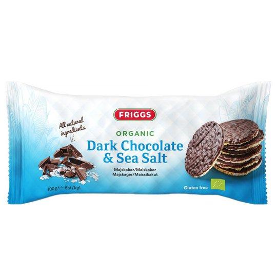 """Eko Majskakor """"Dark Chocolate & Sea Salt"""" 100g - 47% rabatt"""