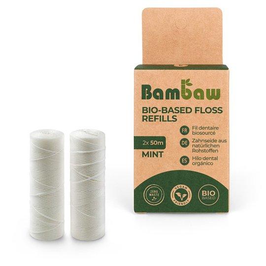 Bambaw Tandtråd Bioplast Refill - Mintsmak, 2 x 50 m