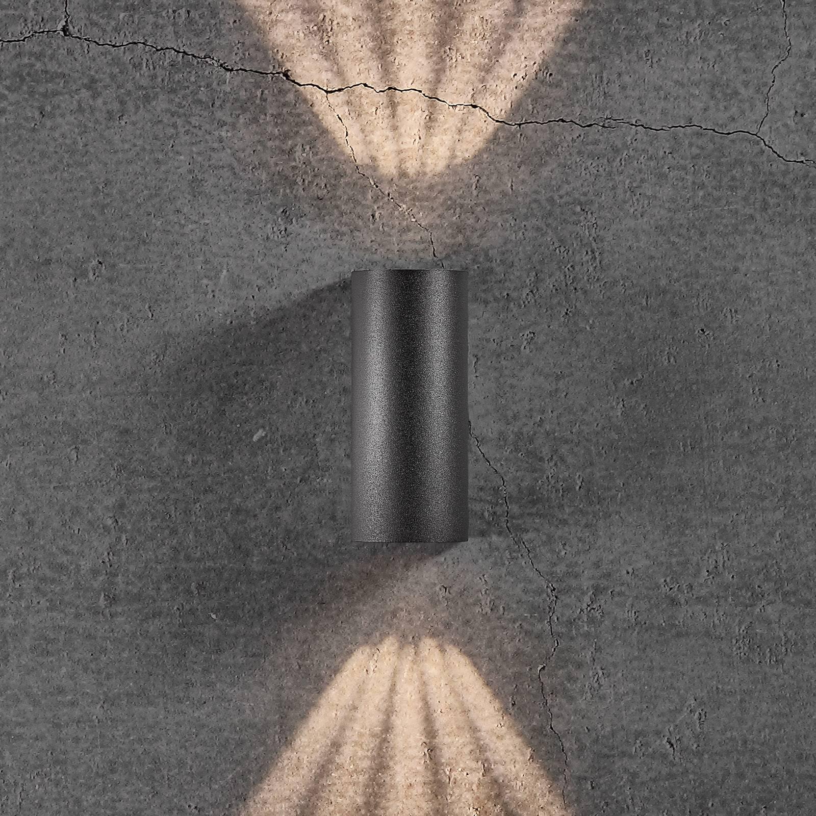 LED-ulkoseinälamppu Asbol sapluunoilla
