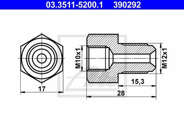Adapteri, jarrujohto ATE 03.3511-5200.1
