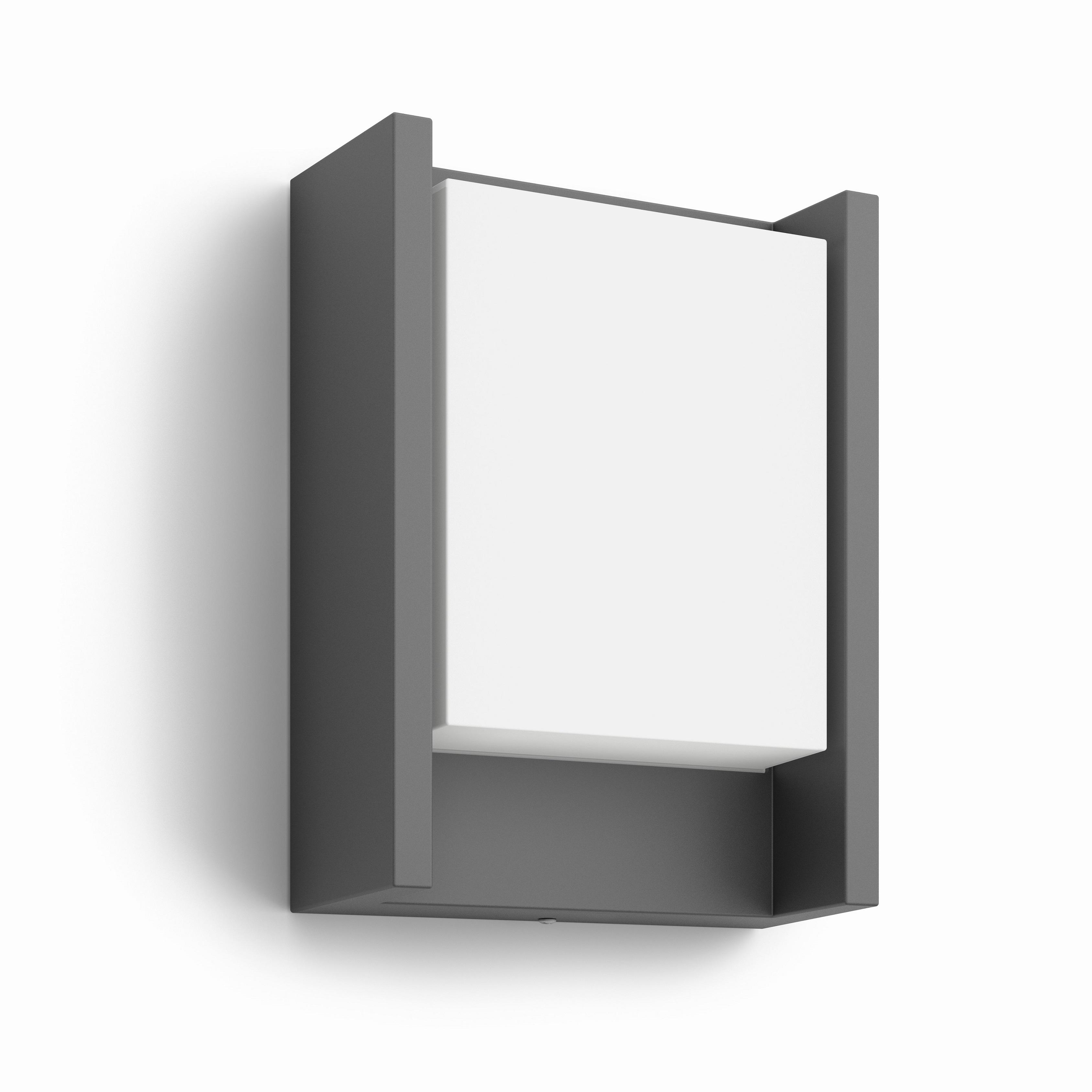 Philips myGarden LED-vägglampa Arbor 6 W antracit 164609316