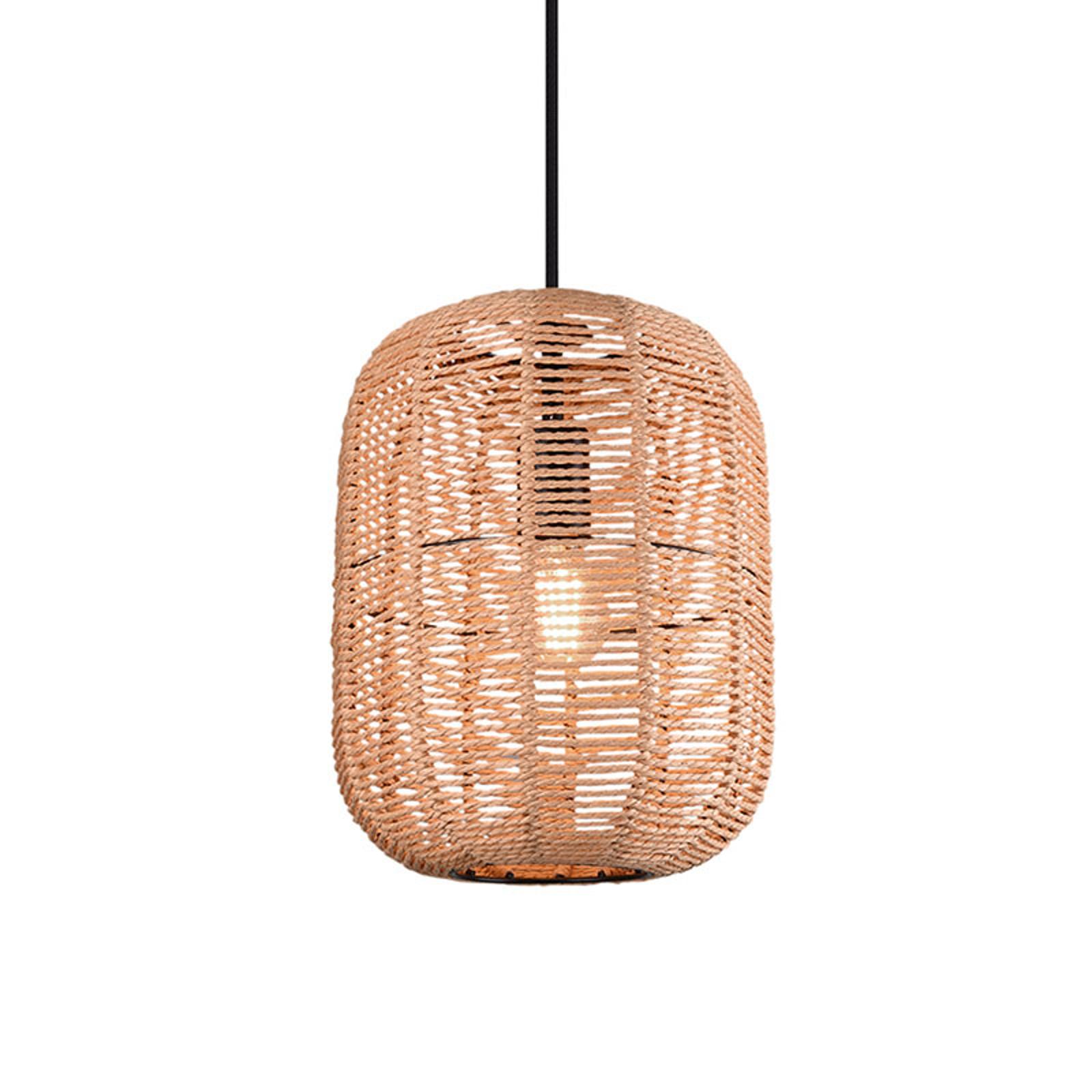 Riippuvalo Runa, sisalvarjostin, 1-lamp. Ø 25 cm