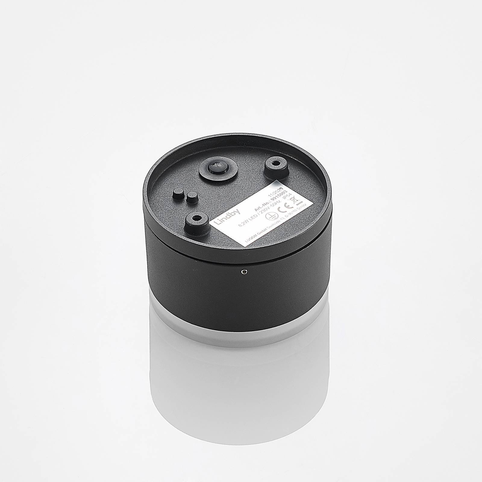 Lindby Mathea utendørs LED-taklampe, sylinder