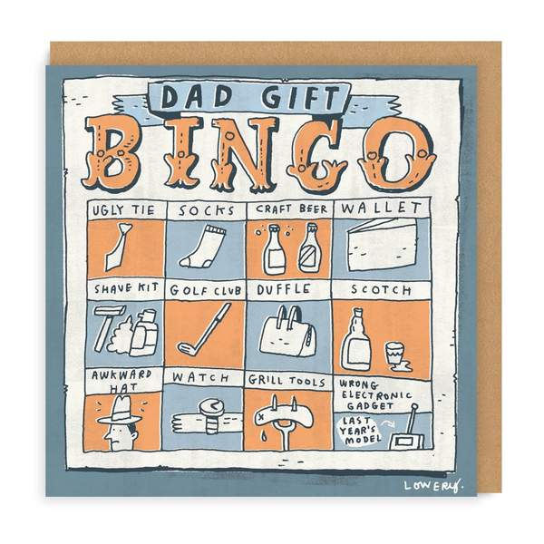 Dad Gifts Bingo Square Greeting Card