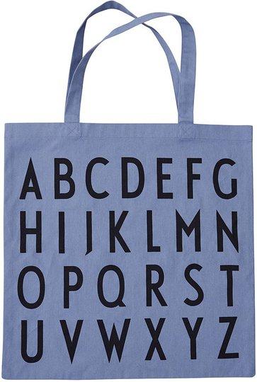 Design Letters Favourite Tøypose ABC, Blue