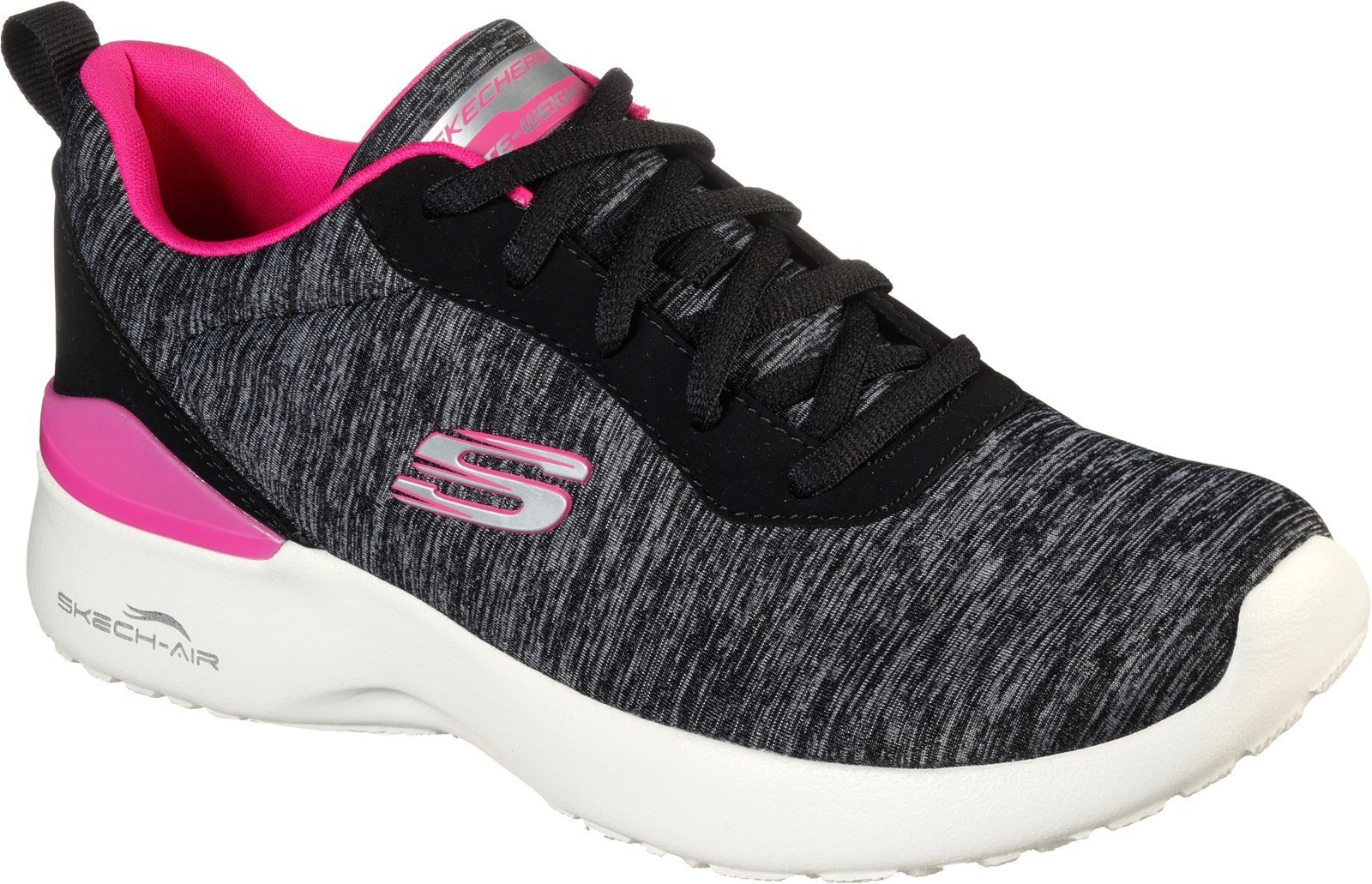 Skechers Women's Skech-Air Dynamight Sport Trainer Various Colours 32118 - Black/Hot Pink 3