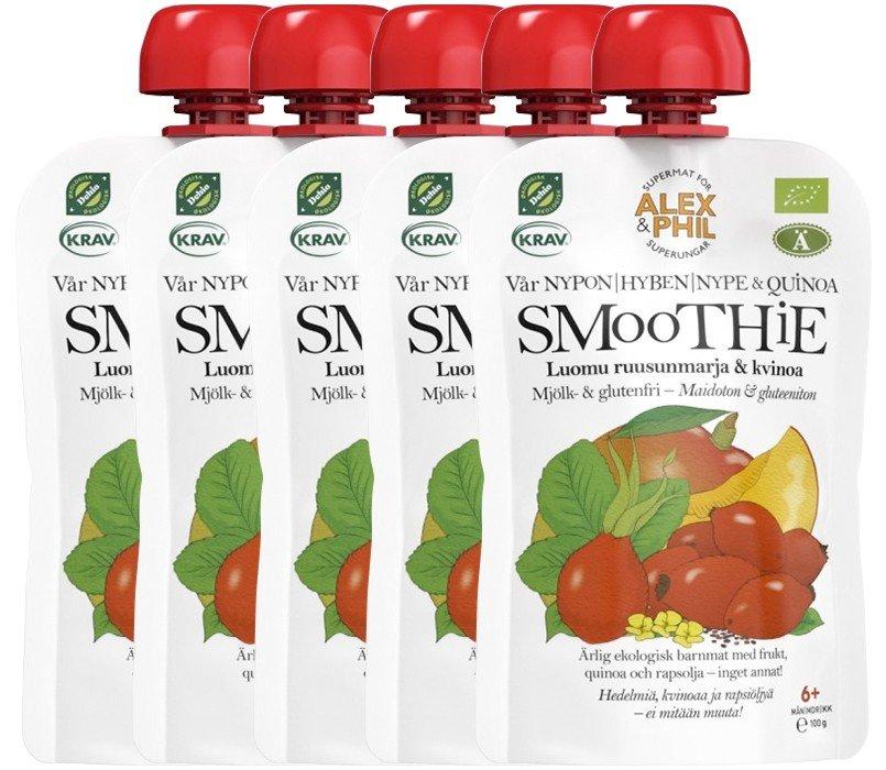 Luomu Ruusunmarja & Kvinoa Smoothie 5kpl - 37% alennus