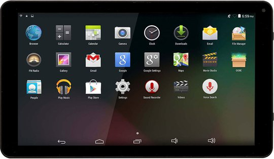 Denver TAQ-10252 Android tablet 10.1 tommer Quad Core, Svart