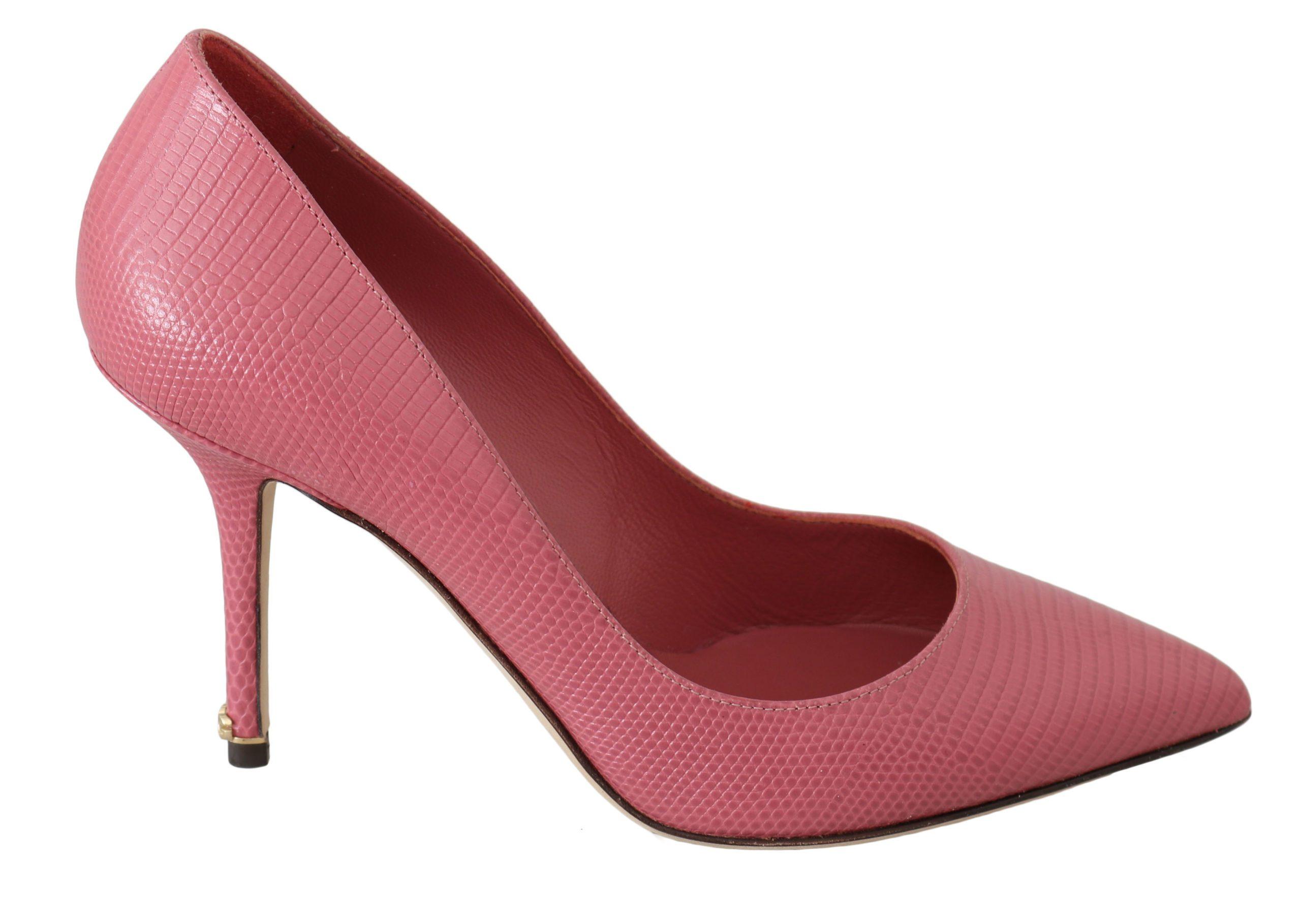 Dolce & Gabbana Women's Leather Bellucci Pumps Pink LA6289 - EU36/US5.5