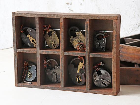 Vintage Wooden Tray Medium