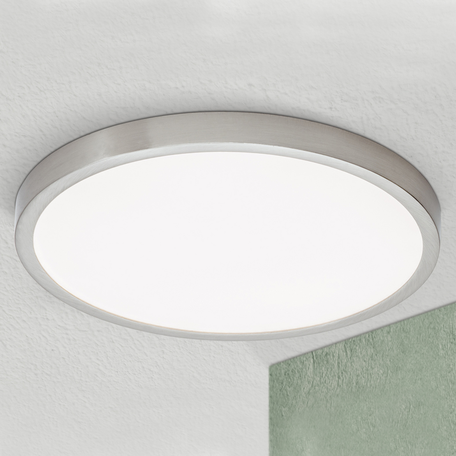 LED-kattovalaisin Vika, pyöreä, mattatitaani Ø30cm