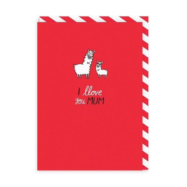 Llove You Mum Enamel Pin Greeting Card