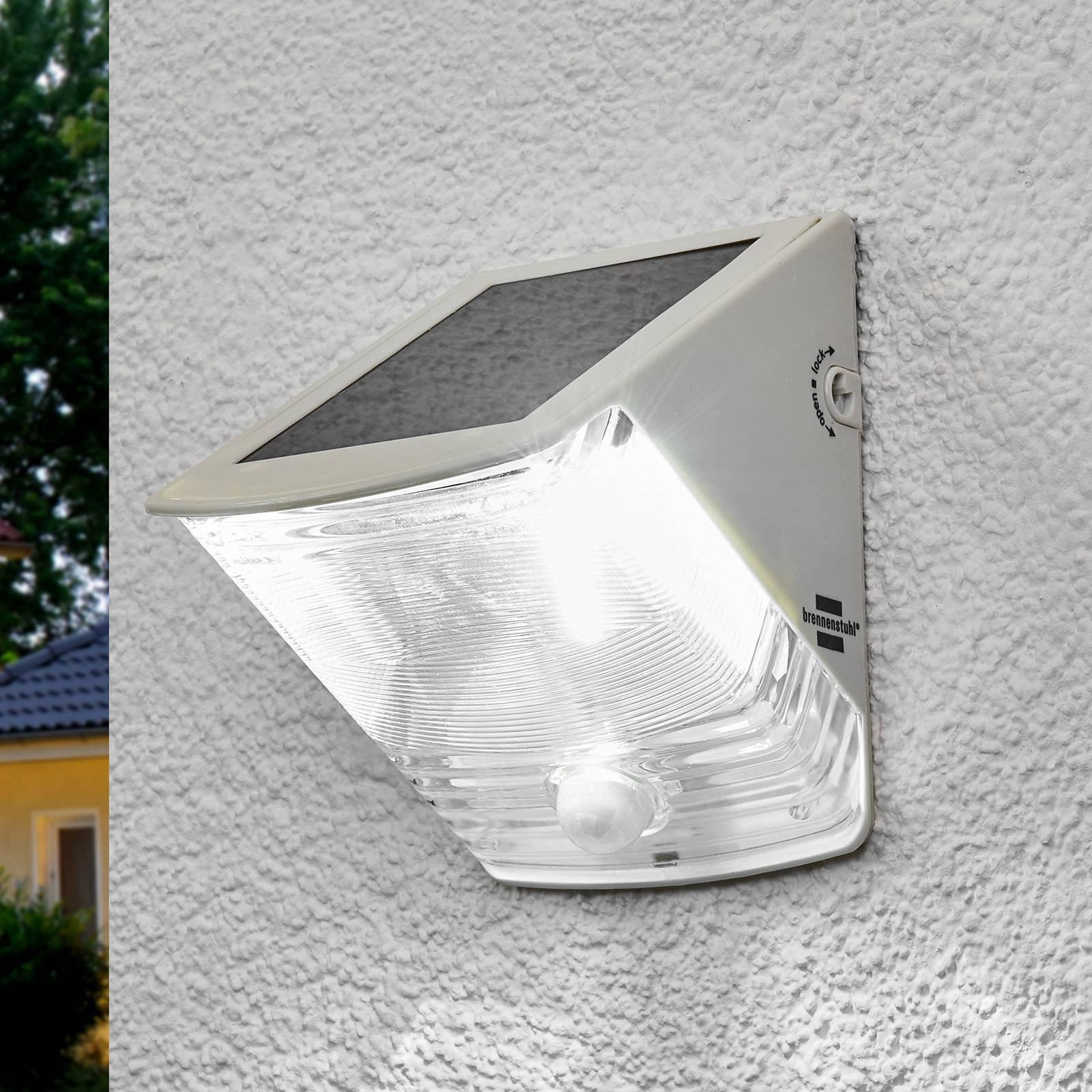 Solar-LED-vegglys SOL 04 IP44 hvitt