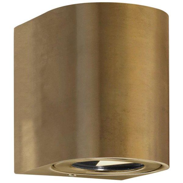 Nordlux CANTO 49701035 Seinävalaisin 2x5W LED, IP44, 2700K Messinki