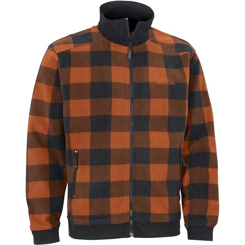 Swedteam Lynx Sweater Full-Zip M Klassisk fleece, Orange