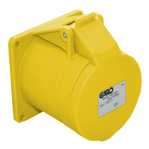 Garo UI 432-4 S Paneelin ulostulo IP44, 5-napainen, 32A Keltainen, 4 h