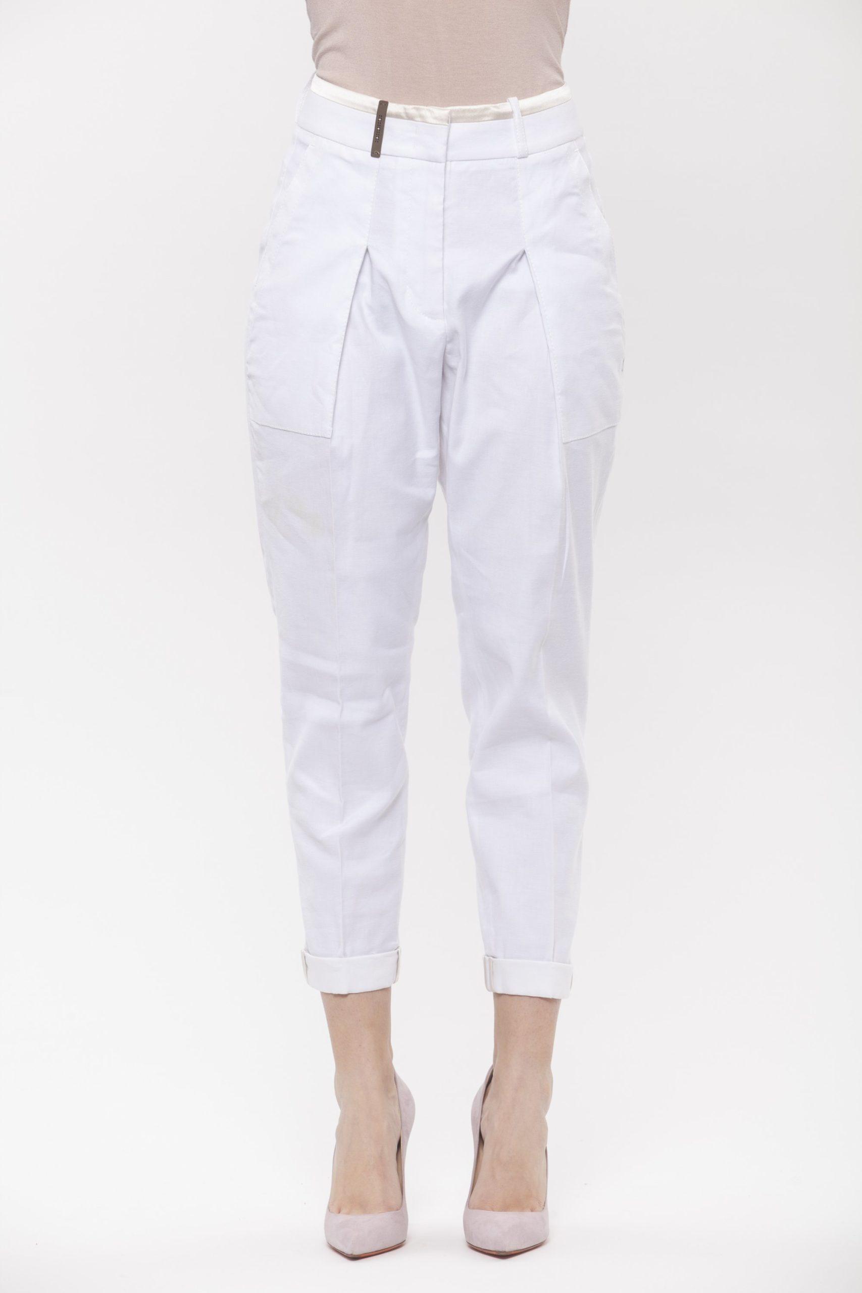 A Bianco White Jeans & Pant - IT42 | S