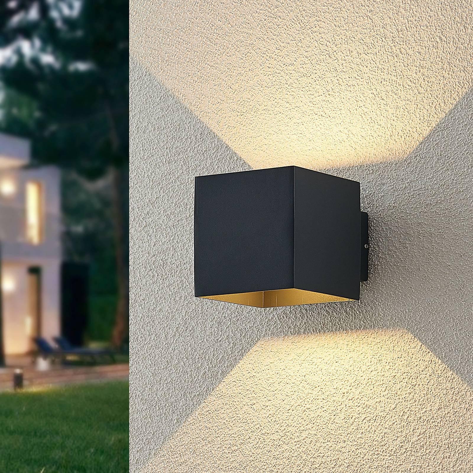 ELC Esani utendørs LED-vegglampe, antrasitt