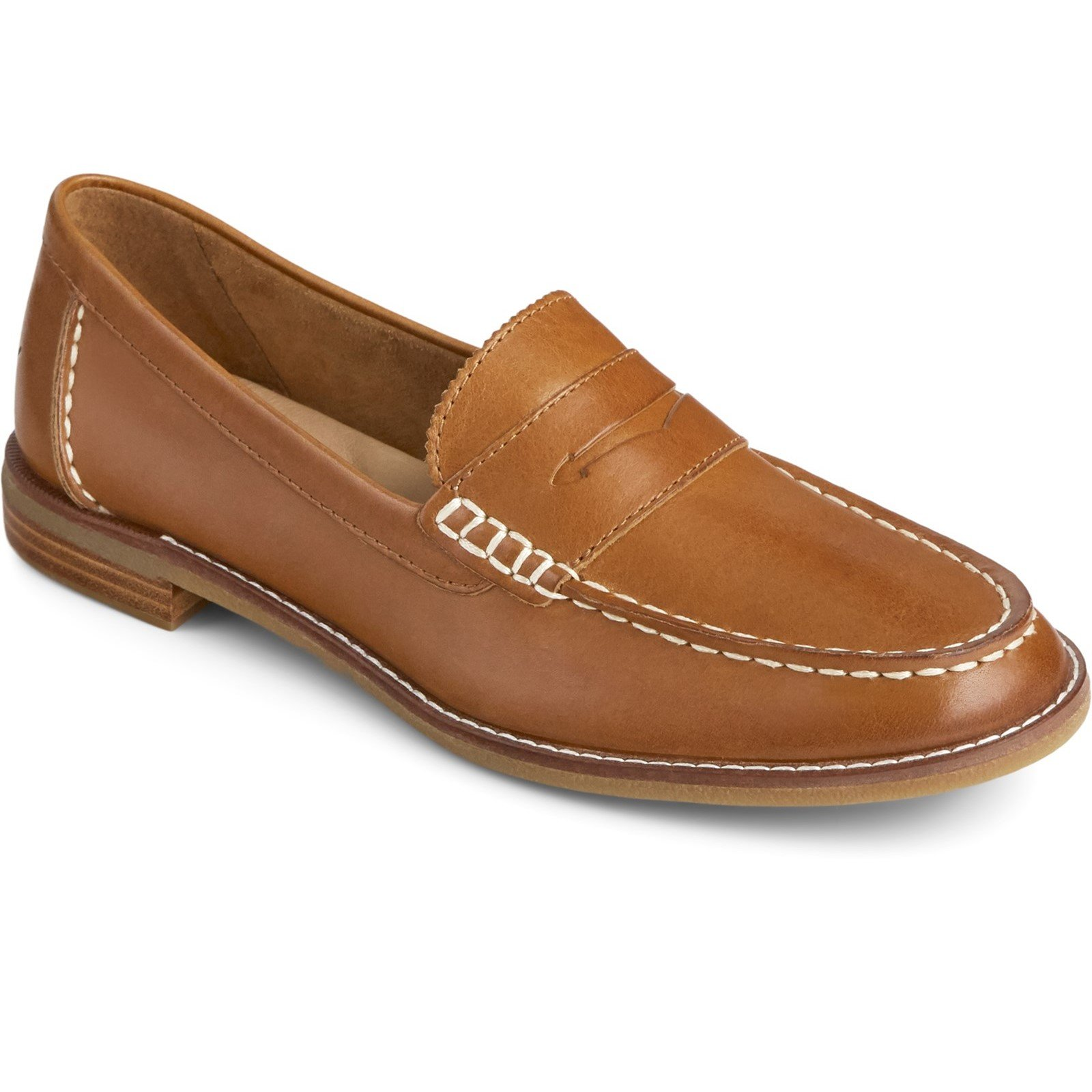 Sperry Women's Seaport Penny Loafer Various Colours 32403 - Tan 5