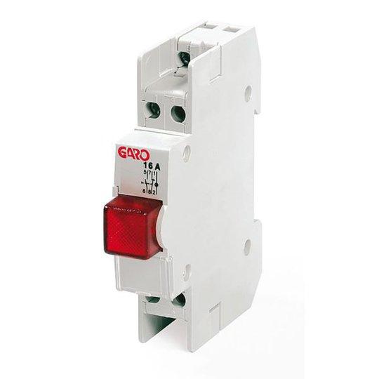 Garo GTL 216 Lampun painike 2-napainen, punainen merkkivalo
